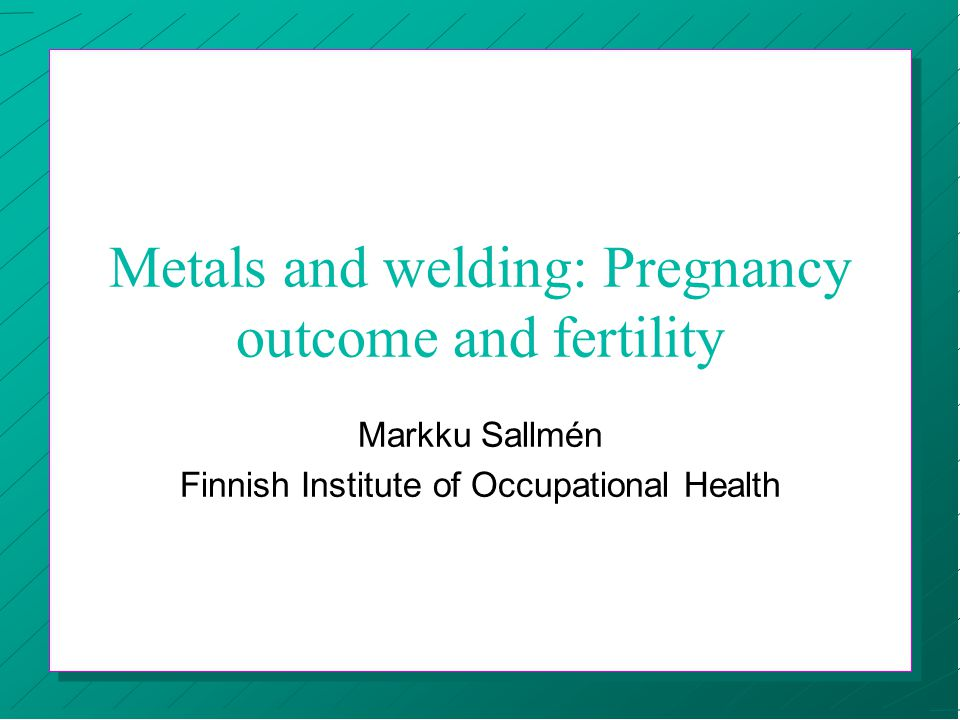 Simultaneous exposure to several metals n Studies around Rönnskär copper smelter ð excess of spontaneous abortion, and stillbirths in pregnancies of wives of men exposed to lead, copper, zinc, gold, silver, cadmium, mercury, arsenic, and sulfur dioxide ð carry-home exposure to the wives remains a possible alternative explanation