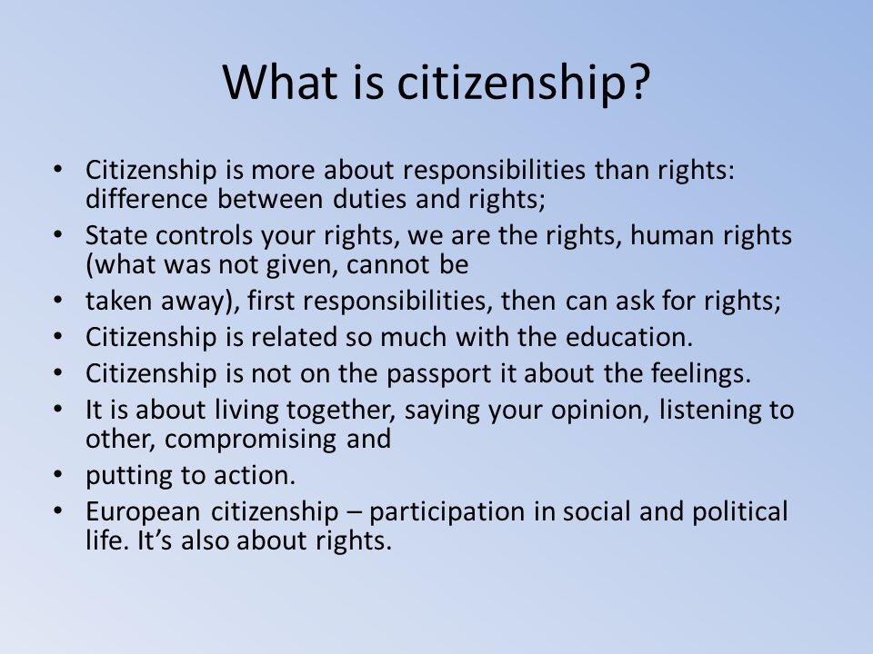 How do young, active citizens live their lives.