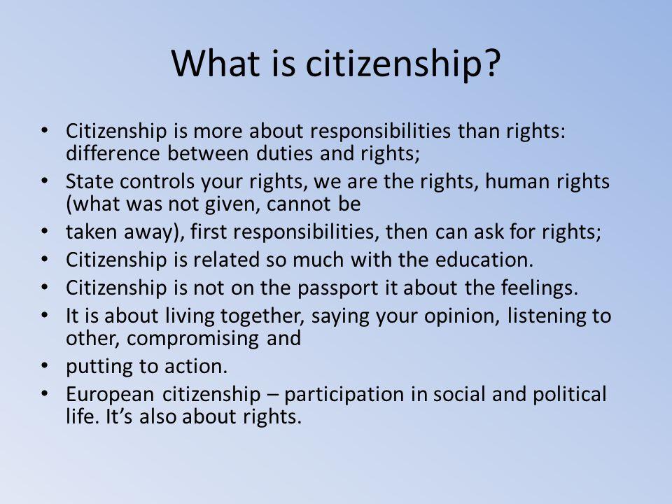 Citizenship framework