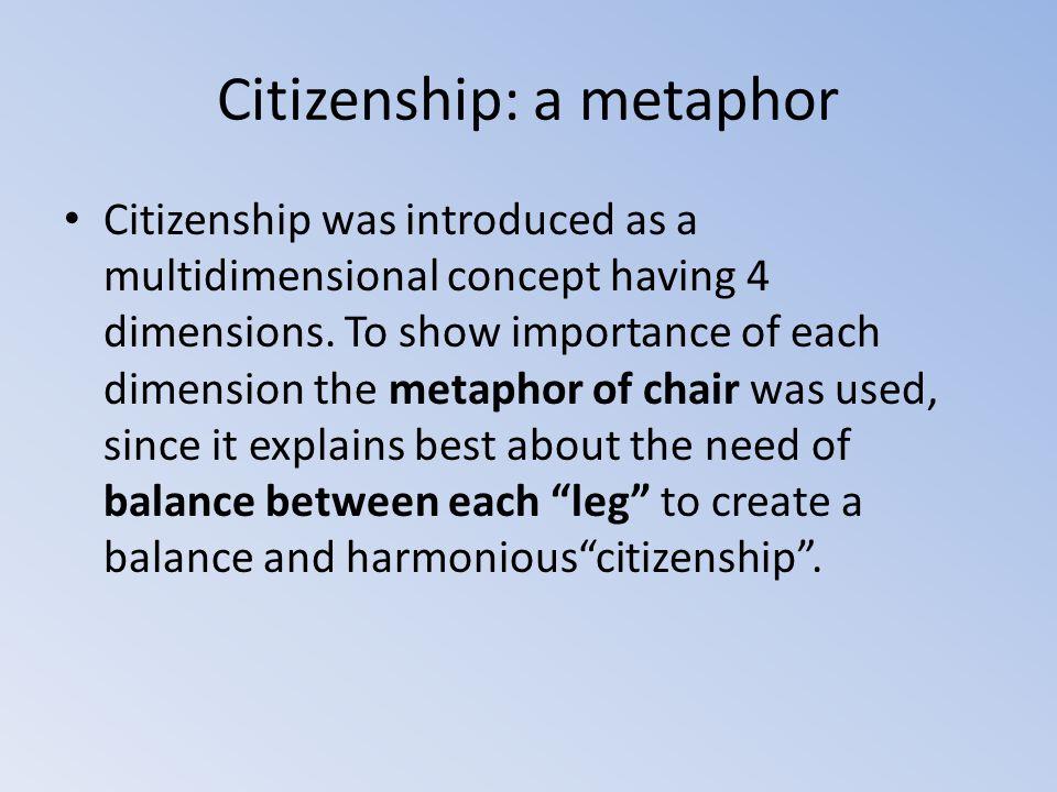 Citizenship: a chair