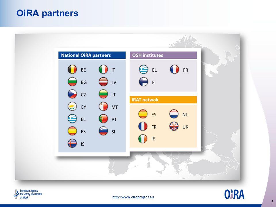 5 http://www.oiraproject.eu OiRA partners