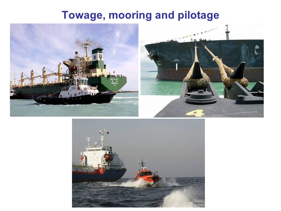 Towage, mooring and pilotage
