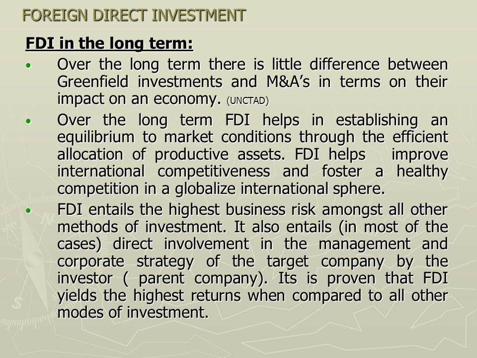 FOREIGN DIRECT INVESTMENT So, what Serbia should do in order to attaract higher levels of FDI inflow?(continued) Improve accouting and financial reporting system.