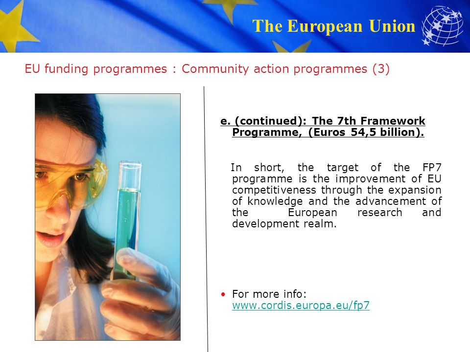 The European Union EU funding programmes : Structural Funds 2.