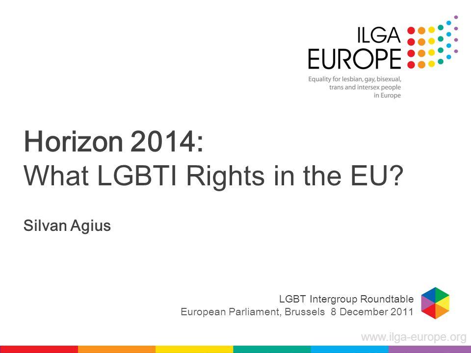 www.ilga-europe.org Horizon 2014: What LGBTI Rights in the EU.