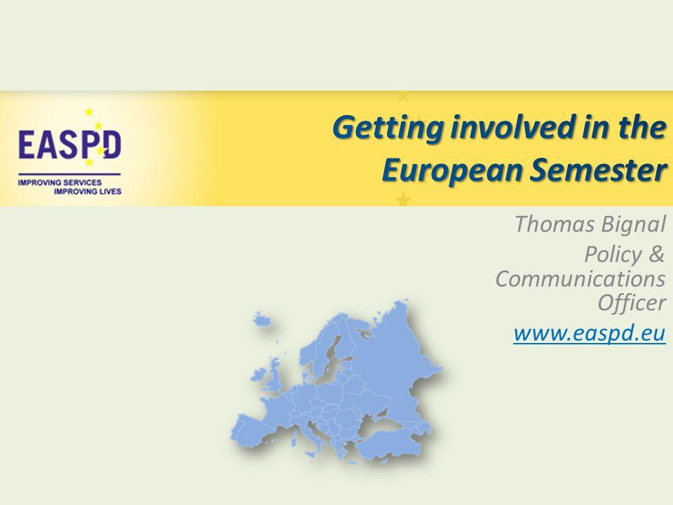 Thomas Bignal Policy & Communications Officer www.easpd.eu