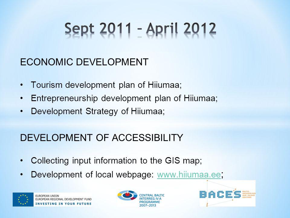 ECONOMIC DEVELOPMENT Tourism development plan of Hiiumaa; Entrepreneurship development plan of Hiiumaa; Development Strategy of Hiiumaa; DEVELOPMENT O
