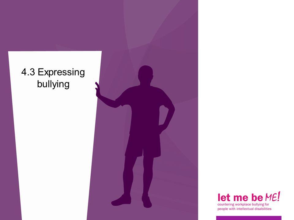4.3 Expressing bullying