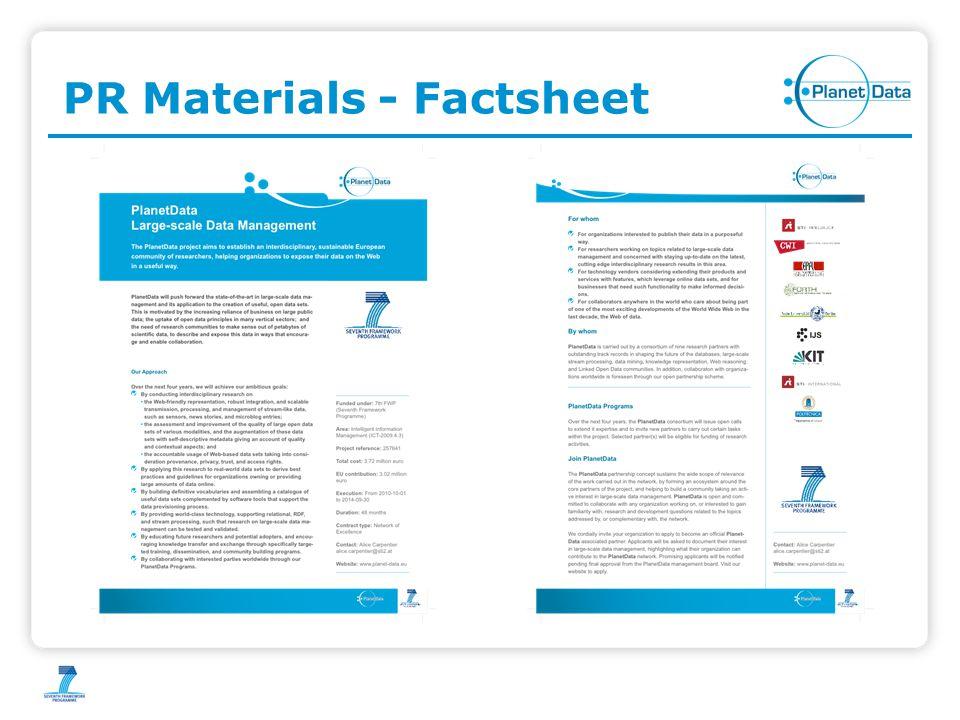 PR Materials - Factsheet