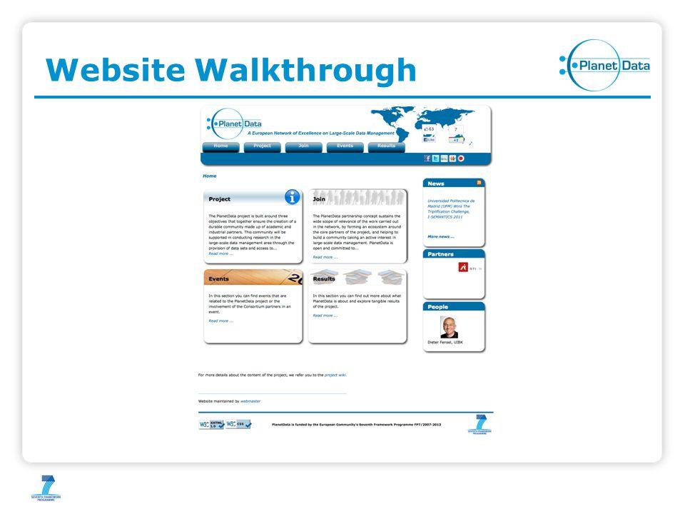 Website Walkthrough