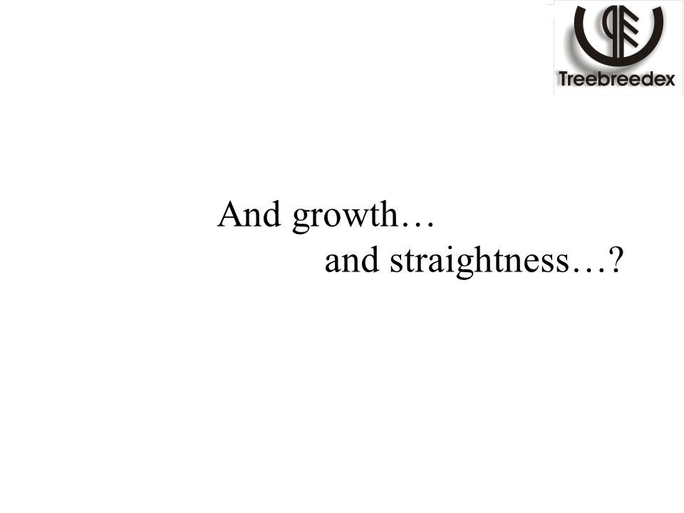 And growth… and straightness…?