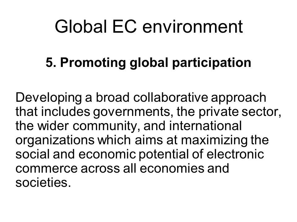 Global EC environment 5.
