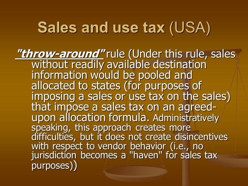 Sales and use tax (USA)