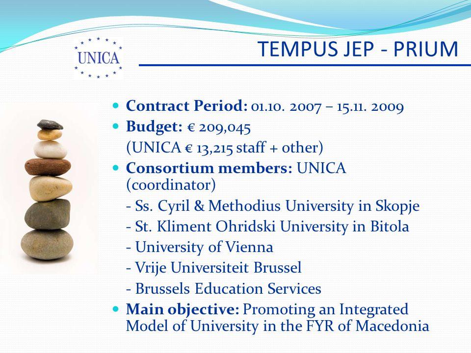 TEMPUS JEP - PRIUM Contract Period: 01.10. 2007 – 15.11.
