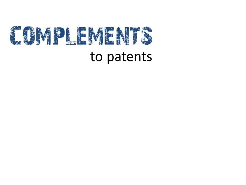 to patents