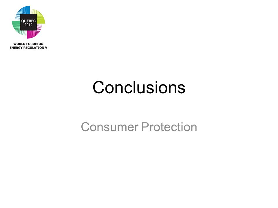Conclusions Consumer Protection