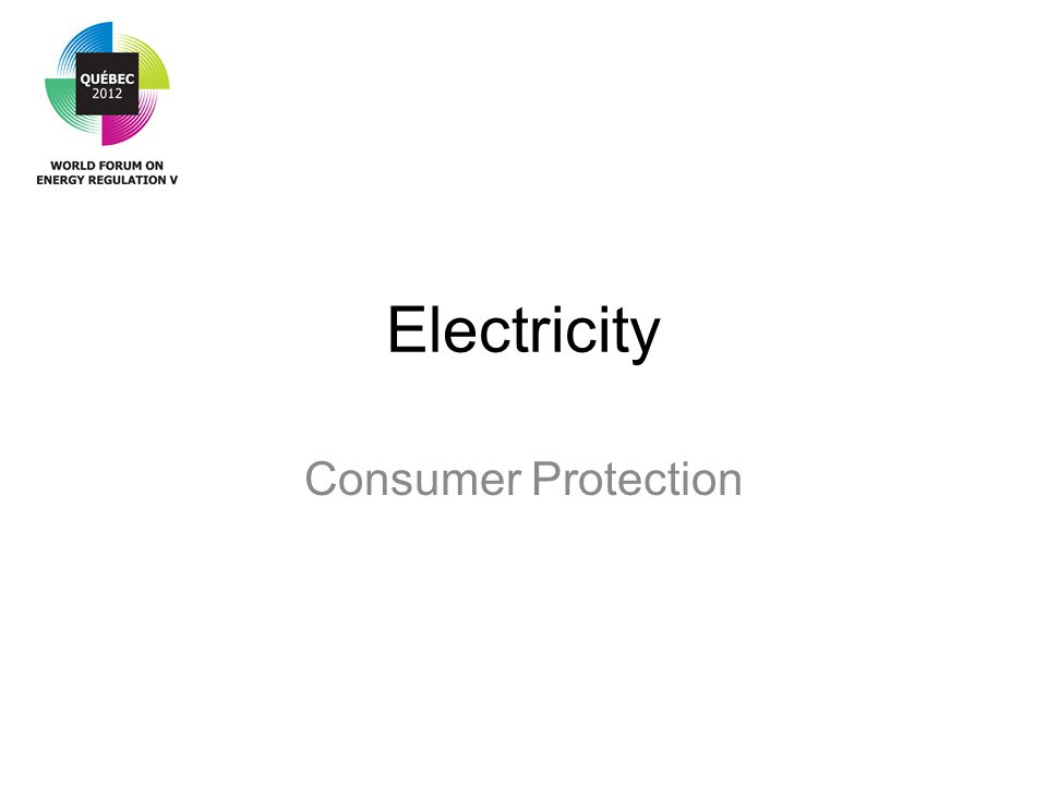 Electricity Consumer Protection