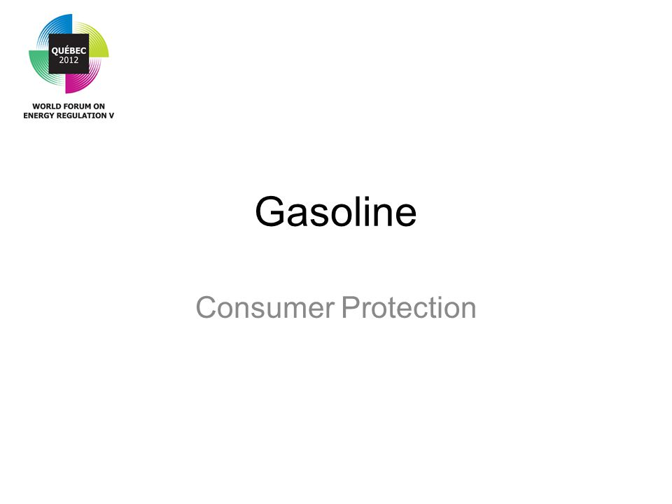 Gasoline Consumer Protection