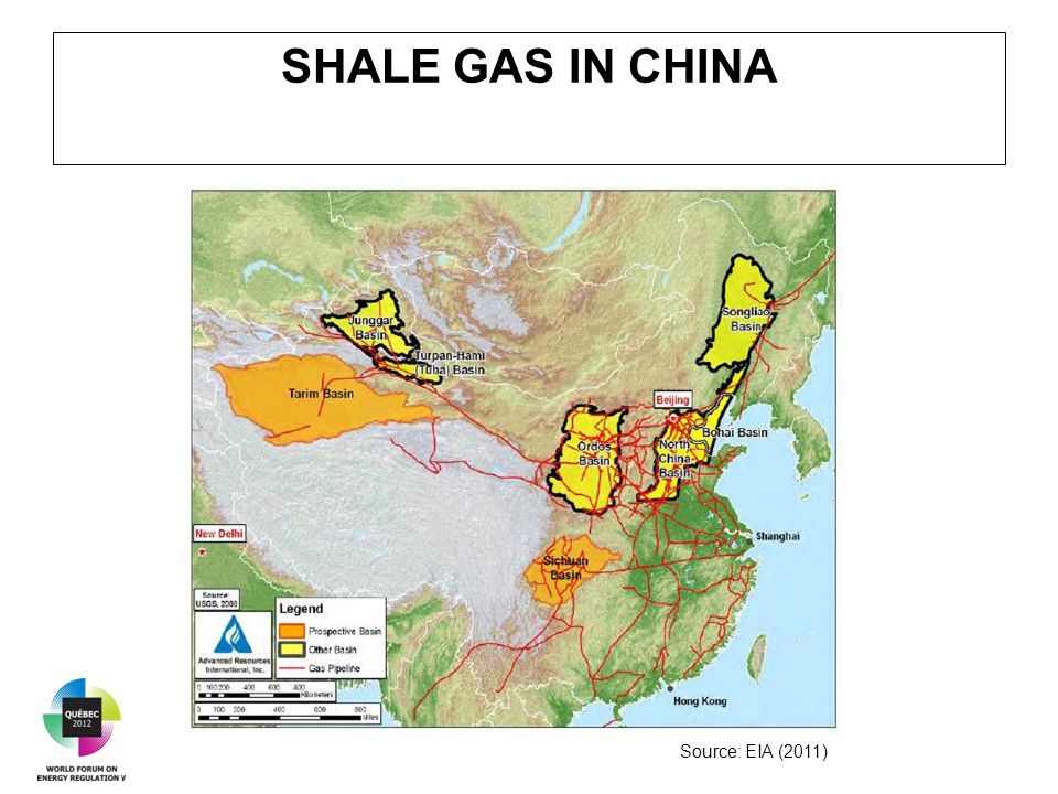 SHALE GAS IN CHINA Source: EIA (2011)