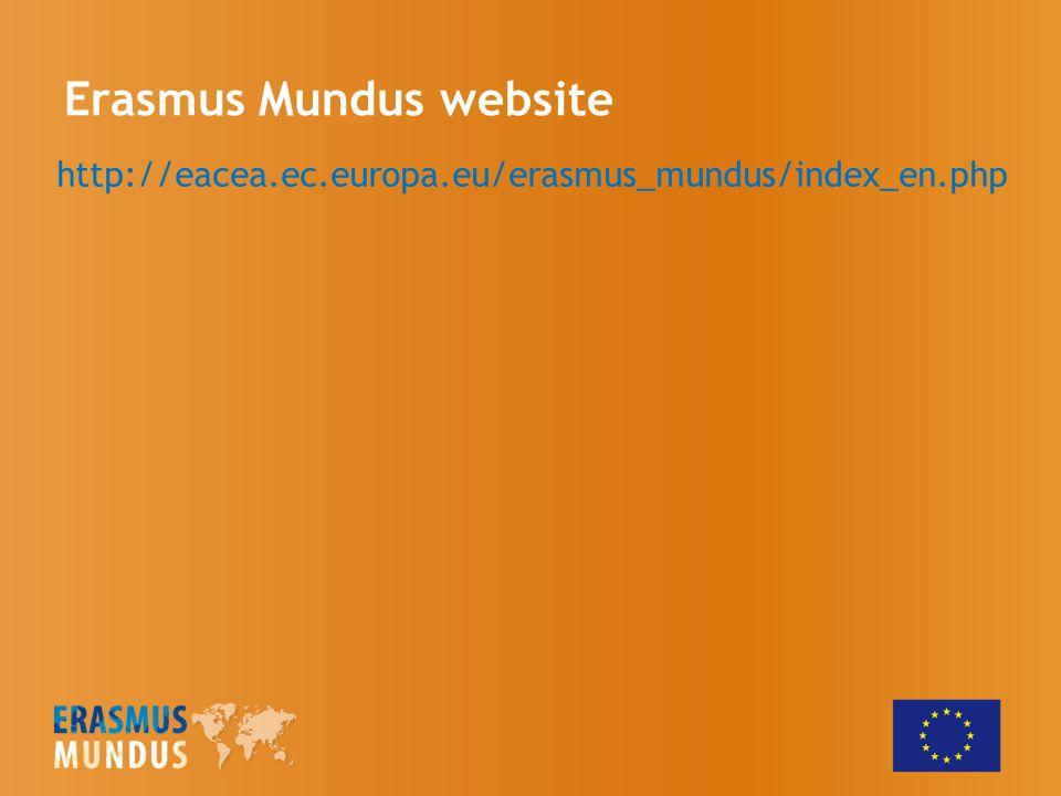Erasmus Mundus website http://eacea.ec.europa.eu/erasmus_mundus/index_en.php