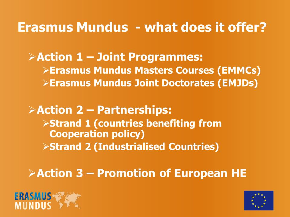 Erasmus Mundus - what does it offer.