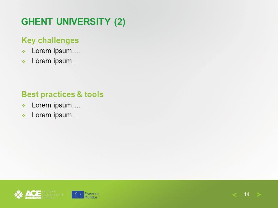 Key challenges  Lorem ipsum….  Lorem ipsum… Best practices & tools  Lorem ipsum….