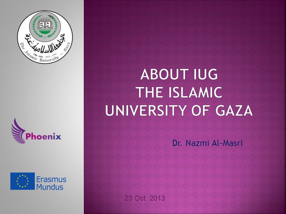 Dr. Nazmi Al-Masri 23 Oct. 2013