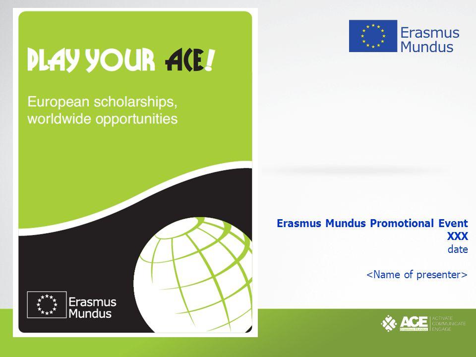 Erasmus Mundus Promotional Event XXX date