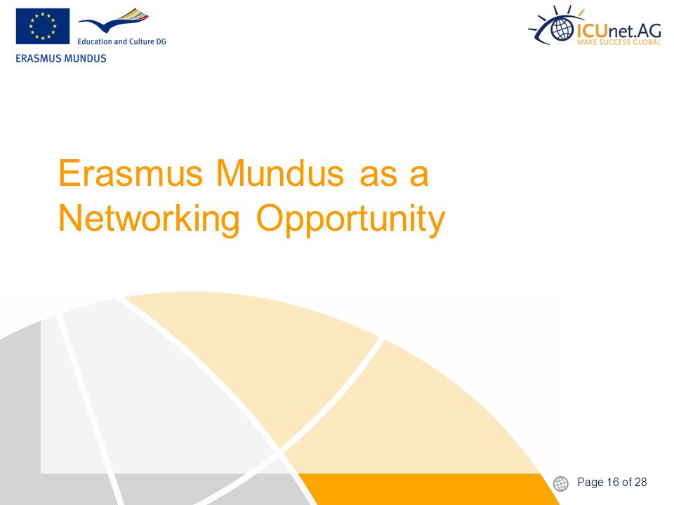 Page 16 of 28 Erasmus Mundus as a Networking Opportunity