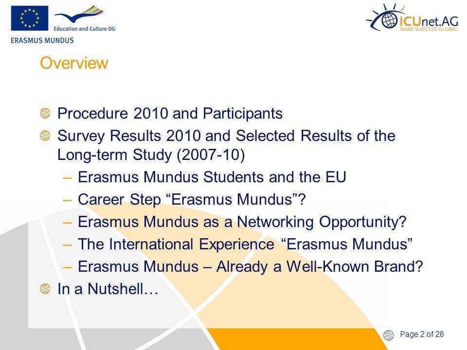 Page 23 of 28 Erasmus Mundus – Already a Well-Known Brand?