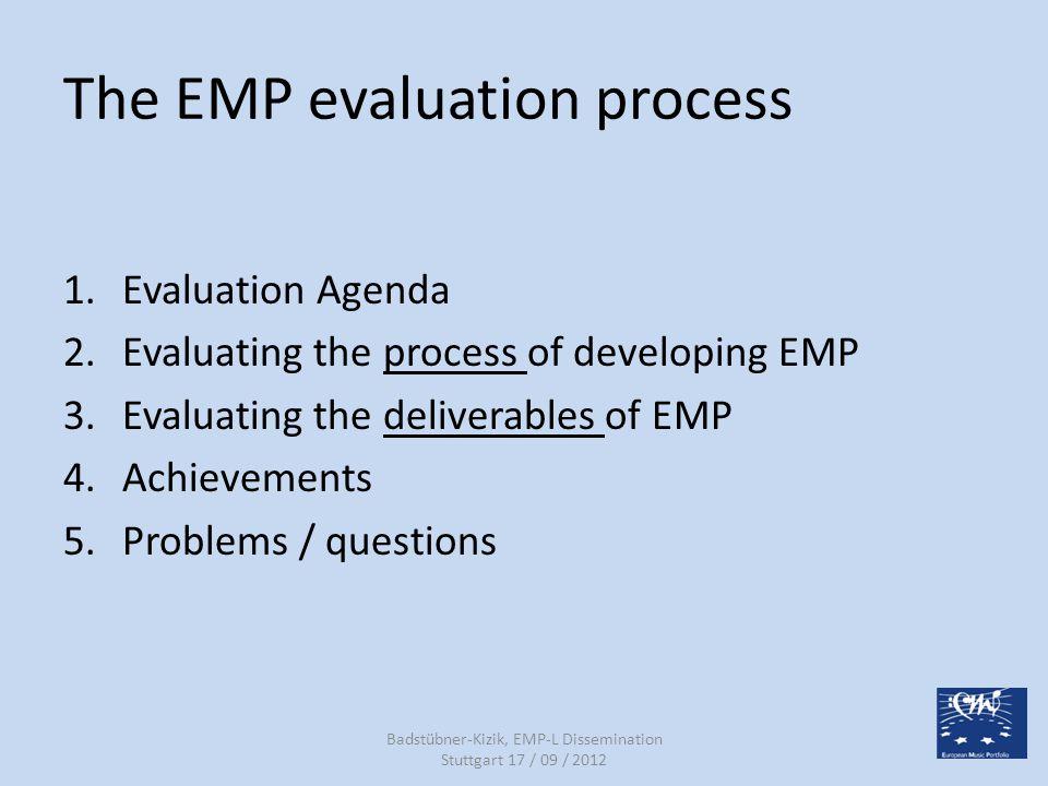 Upcoming CPD / EMP-L courses TimePlace 2012, 22/08 +14/11 +23/01 +13/03 2013 CH, AarauEMP-L 2012, 22/09 +12/12 +16 /01 2013 CH, AarauEMP-L 2012, 26/09DE, StuttgartCPD 2012, 22-16/10FR, MontpellierCPD 2012, 25/10DE, Stuttgart / EsslingenCPD 2012, 14/11DE, StuttgartCPD 2012, 05-09/12GR, AthensCPD 2013, 06/02DE, StuttgartEMP-LCPD 2013, 13-15/02DE, Bad WildbadCPD 2013, 20-22/03DE, OchsenhausenCPD Badstübner-Kizik, EMP-L Dissemination Stuttgart 17 / 09 / 2012