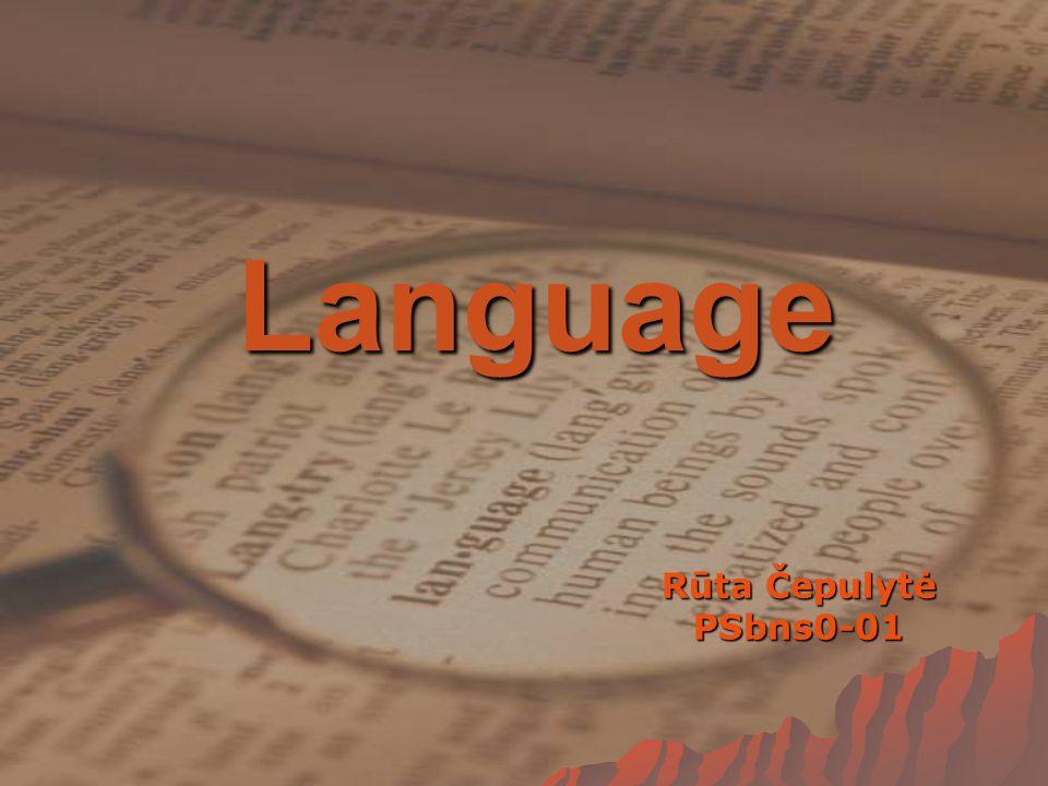 Language Rūta Čepulytė PSbns0-01