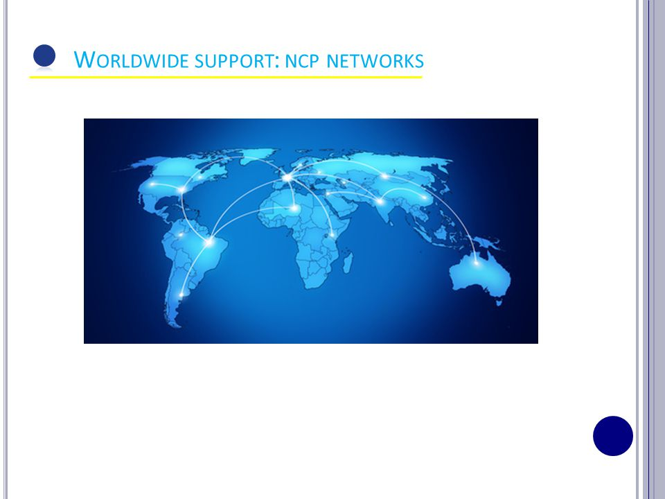 8 W ORLDWIDE SUPPORT : NCP NETWORKS