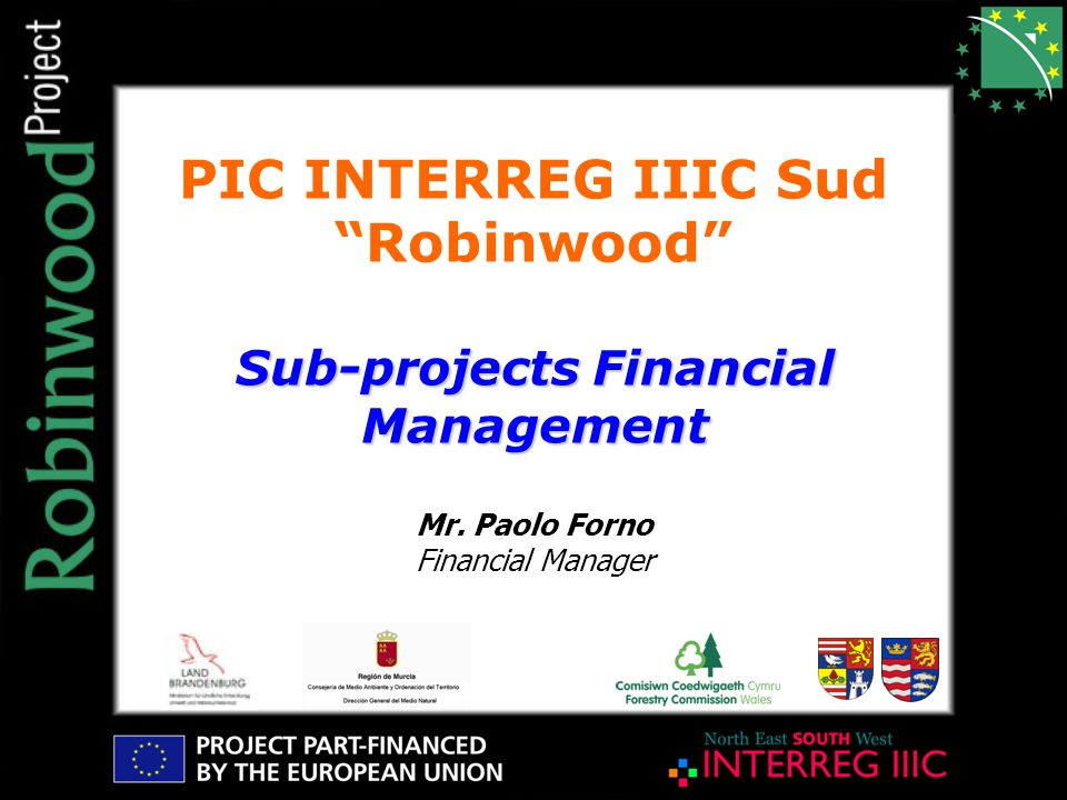 PIC INTERREG IIIC Sud Robinwood Mr.