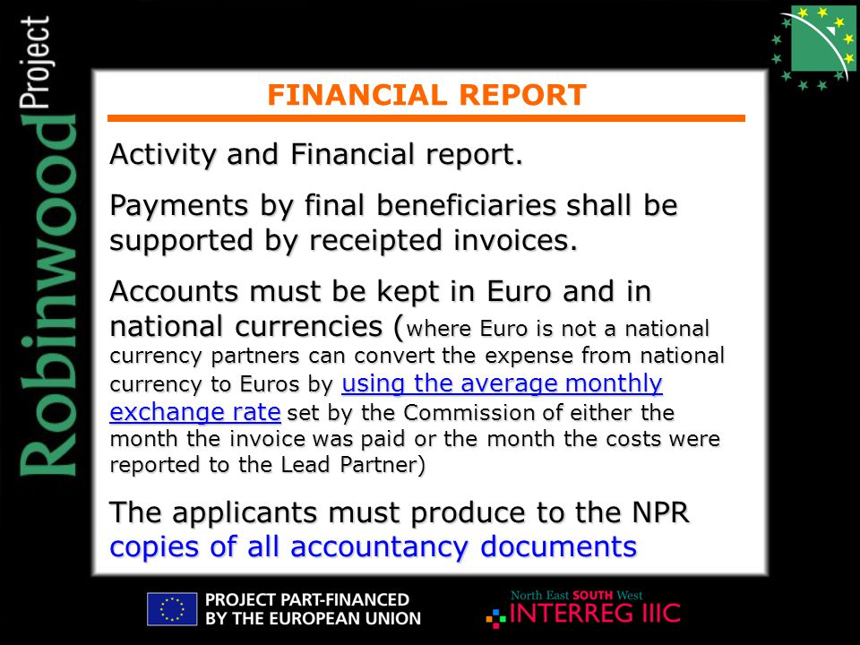 FINANCIAL REPORT Activity and Financial report.