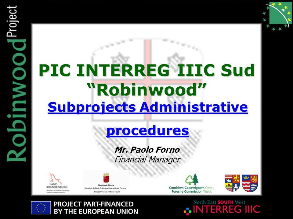 PIC INTERREG IIIC Sud Robinwood Mr.