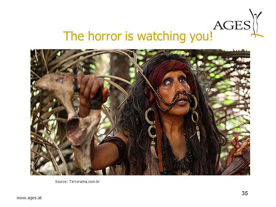 www.ages.at The horror is watching you! Source: Terrorama.com.br 35