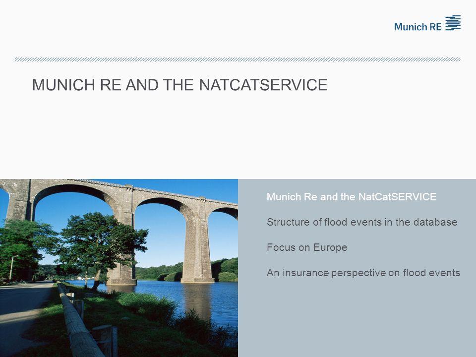 © 2011 Münchener Rückversicherungs-Gesellschaft, Geo Risks Research, NatCatSERVICE – As at May 2011 NatCatSERVICE Munich Re Insurance Company Founded 1880 Largest Reinsurer worldwide
