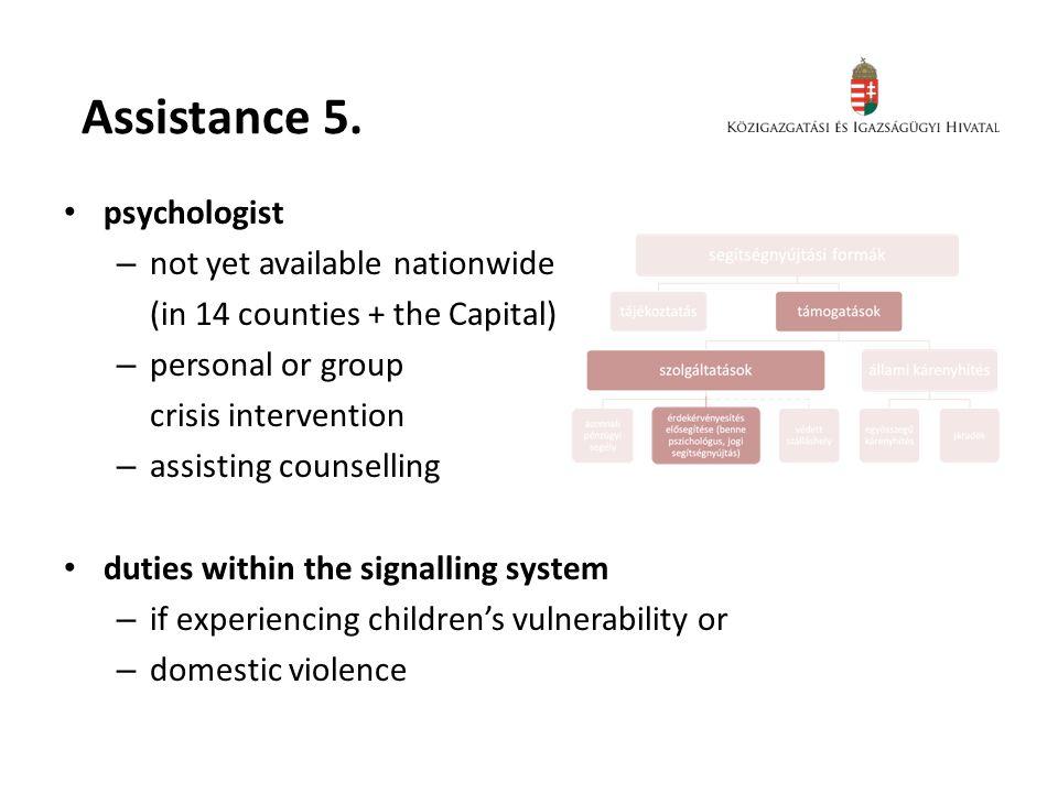 Assistance 5.