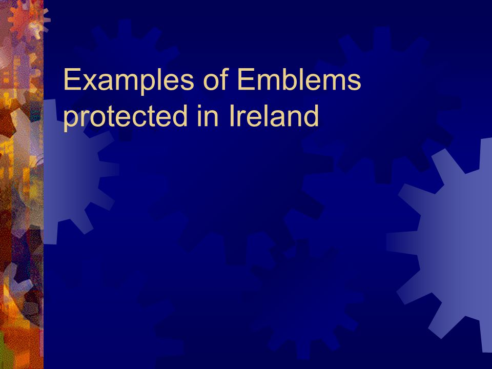 Examples of Emblems protected in Ireland