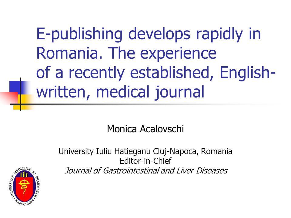 E-publishing develops rapidly in Romania.