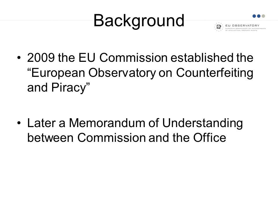 June 2012: Regulation 386/2012 enters into force June-September 2012: Stakeholders' consultation September 2012: Observatory Plenary Meeting November 2012: Adoption of 2013 Work Programme