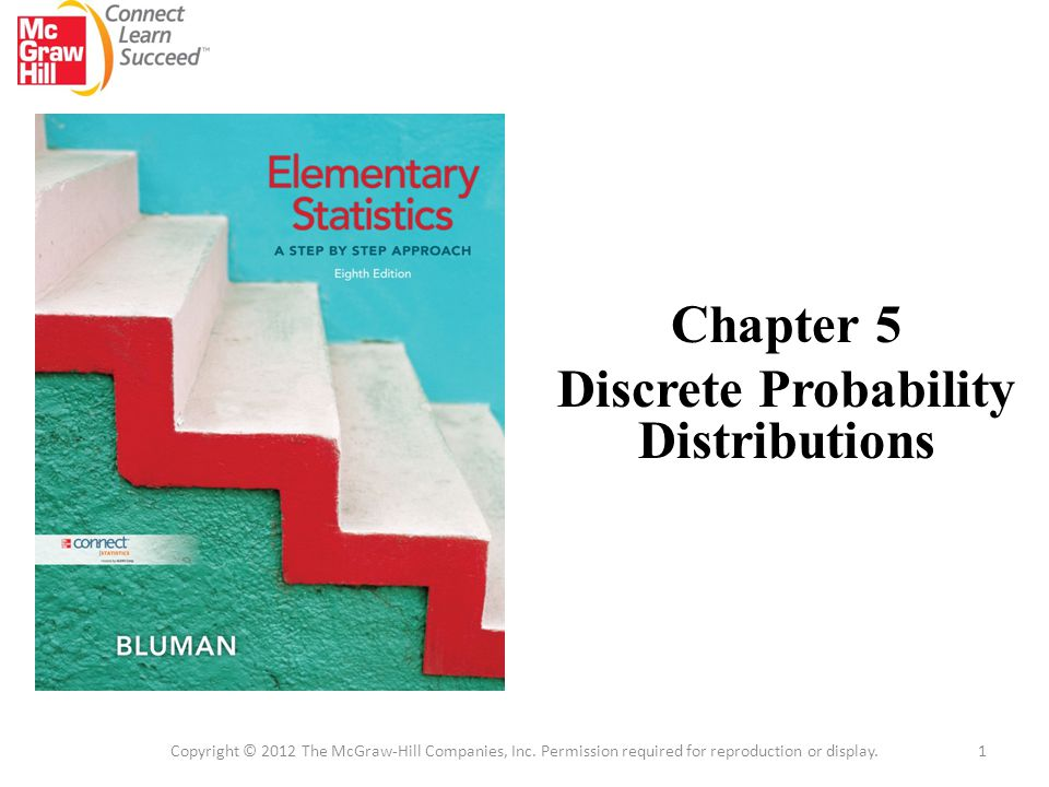 Chapter 5 Discrete Probability Distributions 1 Copyright © 2012 The McGraw-Hill Companies, Inc.