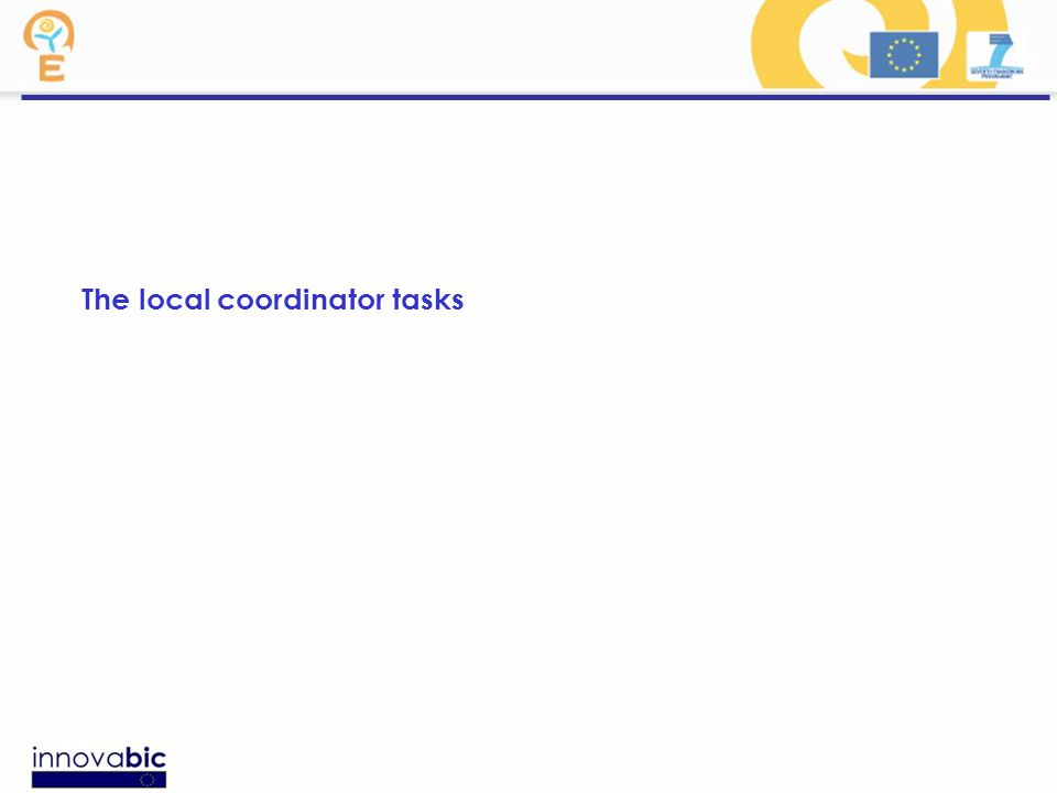 The local coordinator tasks