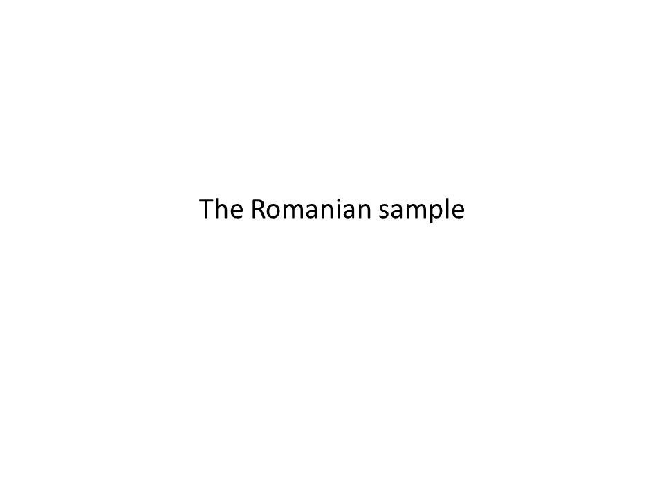 The Romanian sample