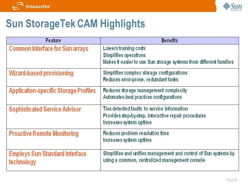 Page 35 Sun StorageTek CAM Highlights