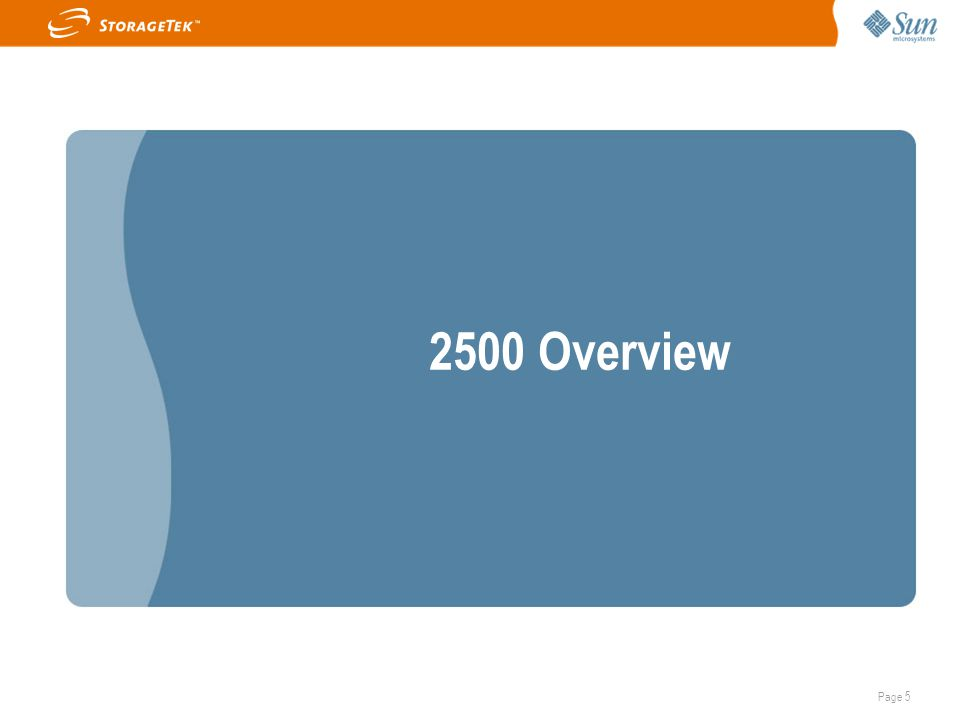 Page 5 2500 Overview