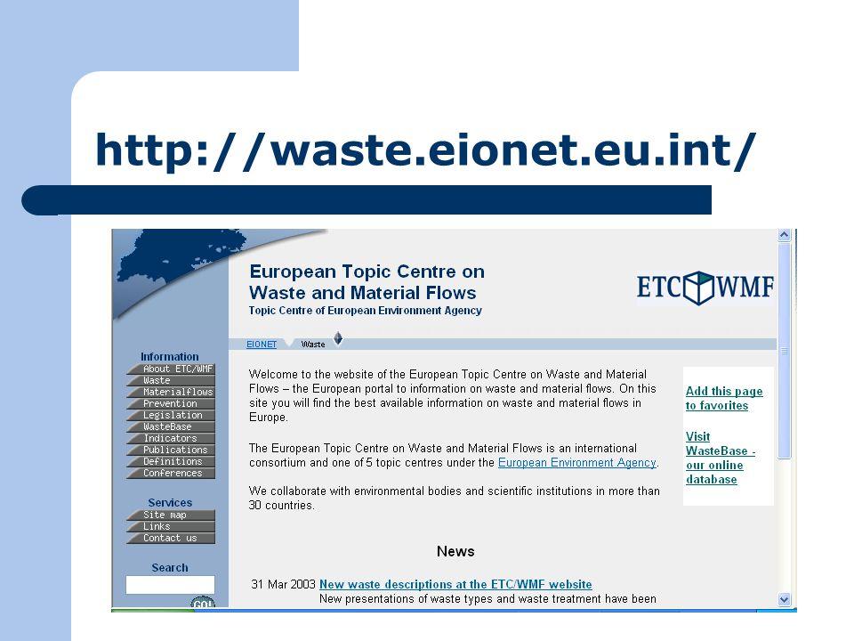 http://waste.eionet.eu.int/