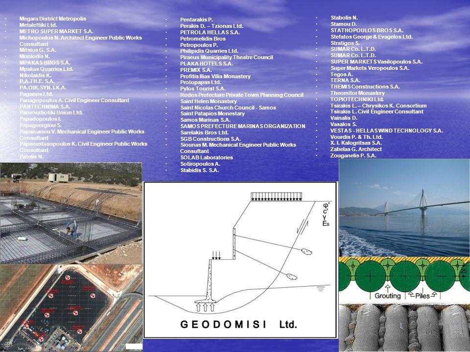 13 · Megara District Metropolis · Metaleftiki Ltd. · METRO SUPER MARKET S.A. · Michopoulos N. Architect Engineer Public Works Consultant · Mitsios G.