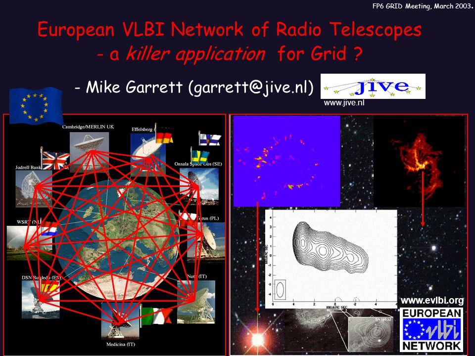 European VLBI Network of Radio Telescopes - a killer application for Grid .